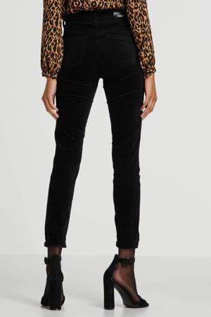 fluwelen skinny broek zwart