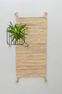 Wehkamp Home vloerkleed Savi met flosjes  (120x60 cm), Naturel