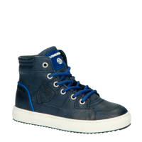Vingino Sil Mid  hoge leren sneakers donkerblauw, Donkerblauw