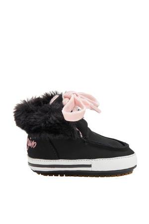Chloe  nubuck babyschoenen zwart/roze