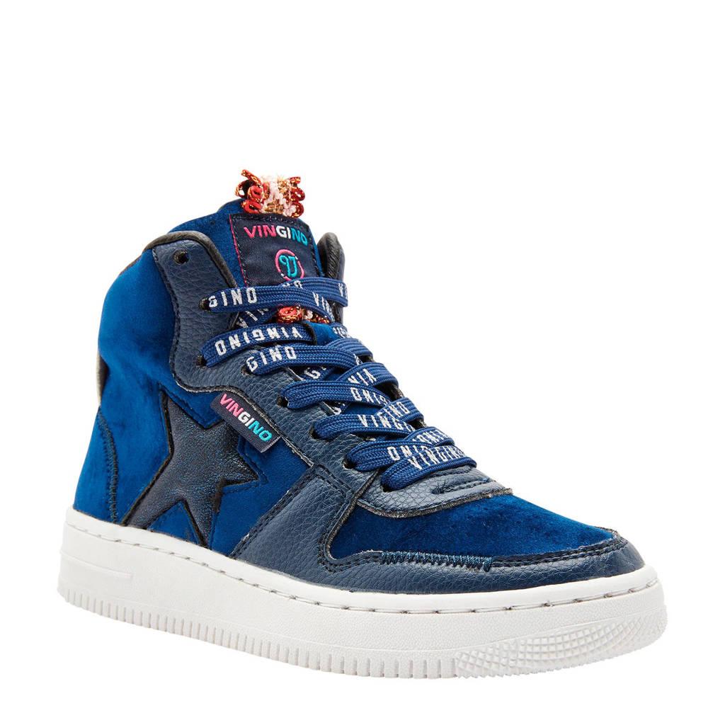 Vingino  Lotte Mid hoge sneakers blauw, Blauw