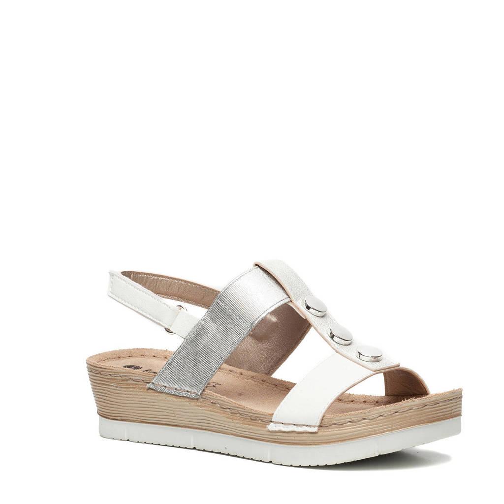 Inblu sandalen wit/zilver, Wit/zilver