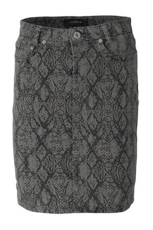 5-pocket rok met slangenprint