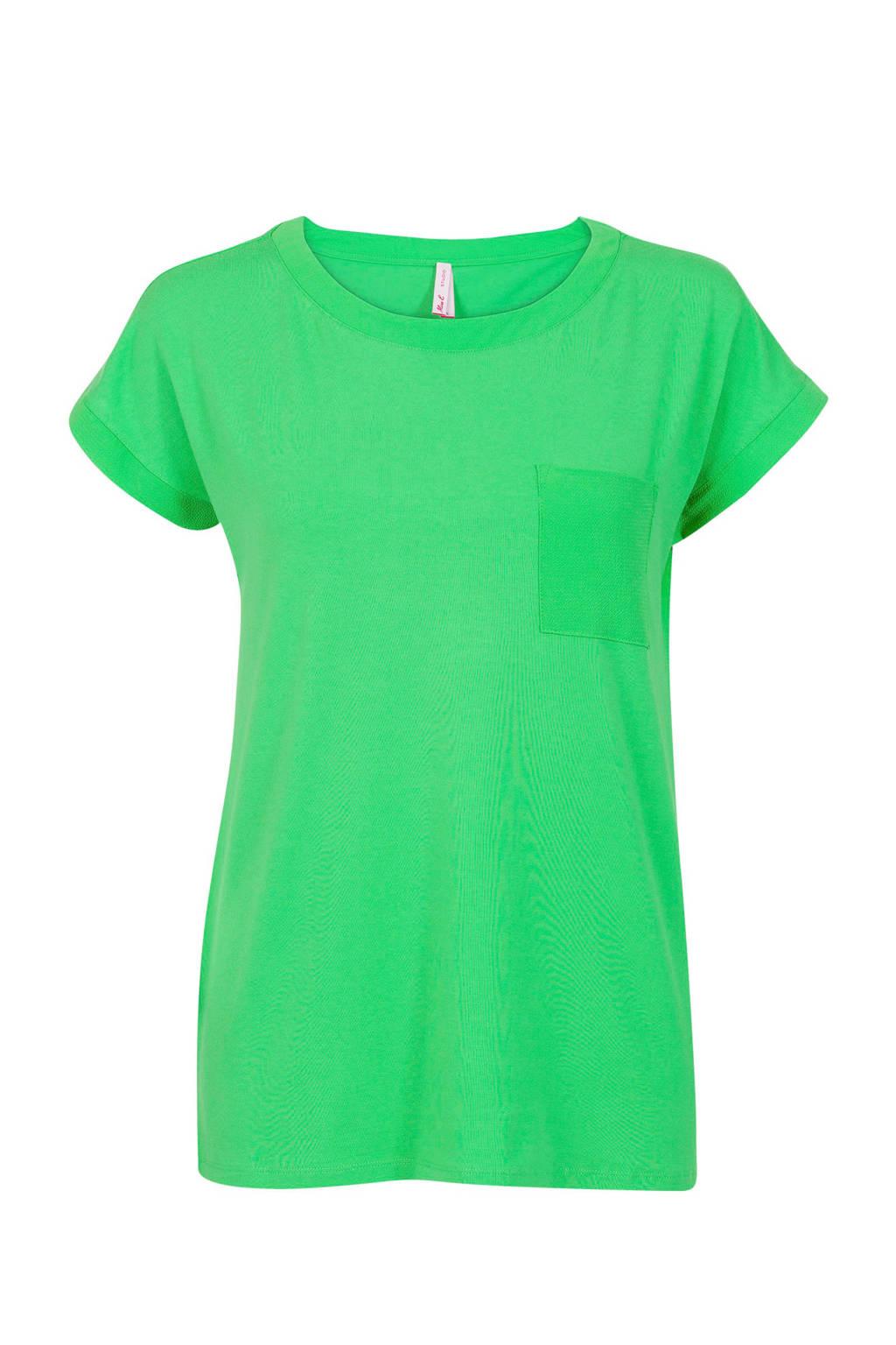 Miss Etam Regulier T-shirt fel groen, Fel groen