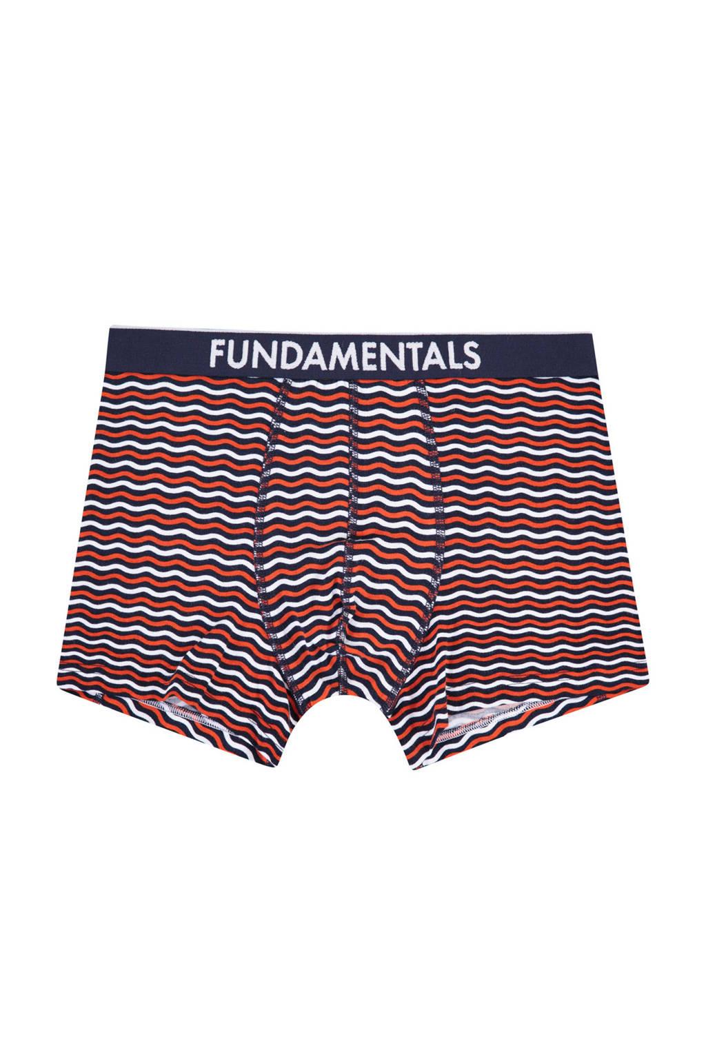 WE Fashion Fundamental boxershort, Rood/marine