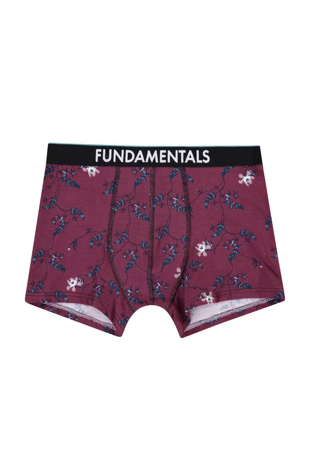 WE Fashion Fundamental boxershort, bordeauxrood/blauw