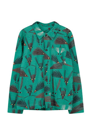 overhemd Eero met all over print groen