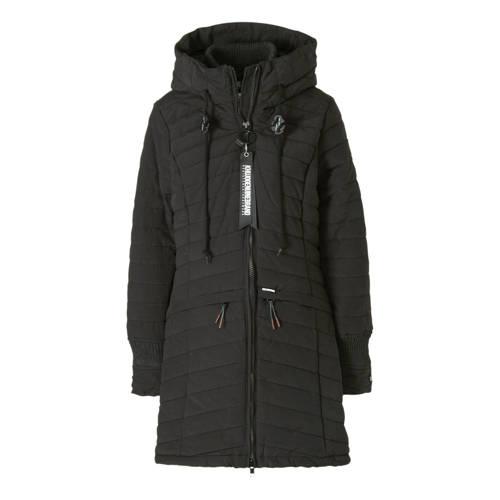 Khujo gewatteerde jas zwart