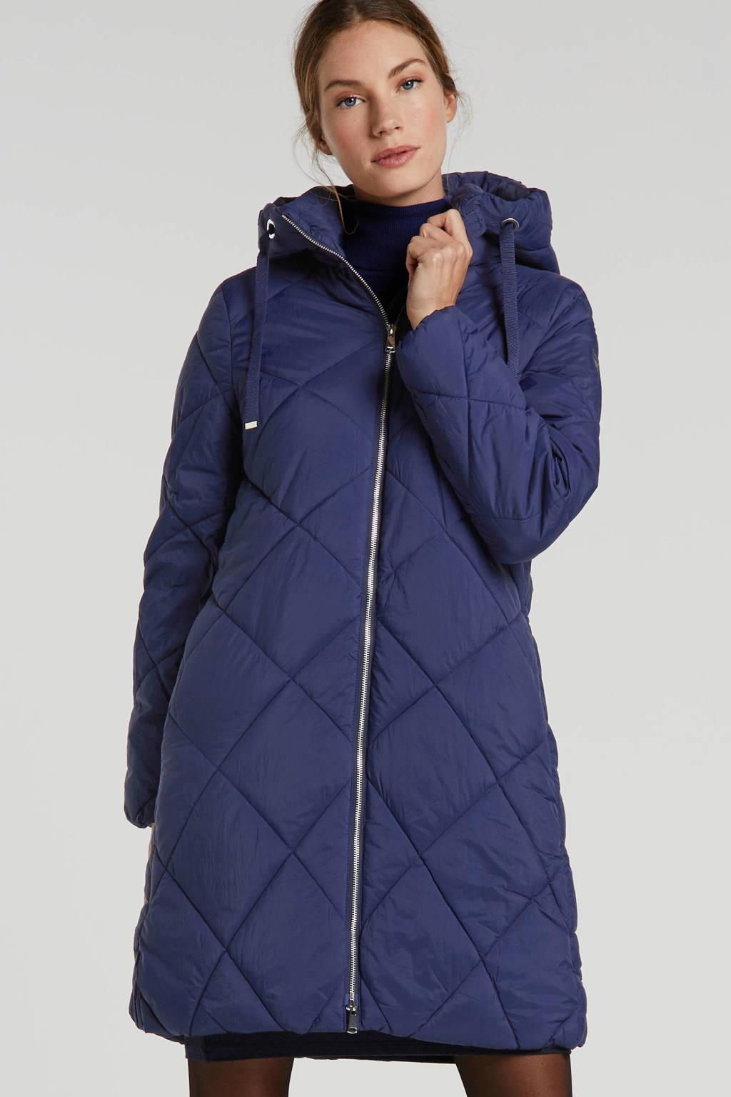 ESPRIT Women Casual gewatteerde jas blauw, Blauw