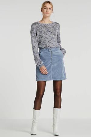 corduroy rok blauw