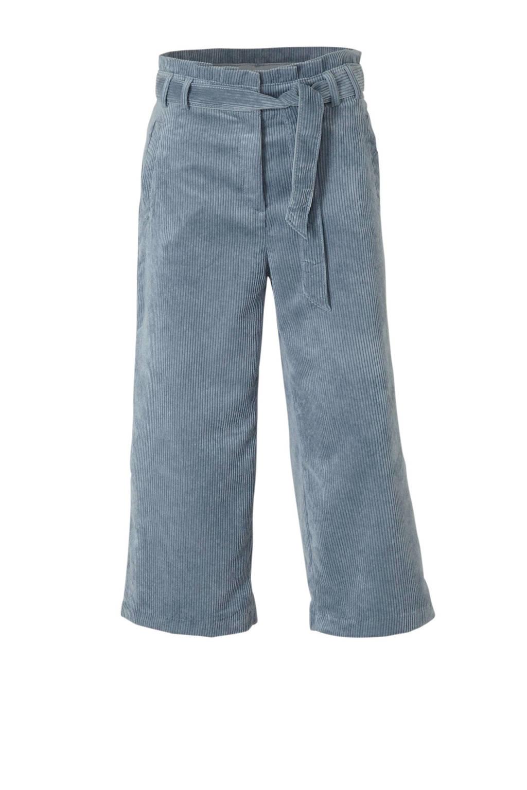 edc Women corduroy high waist culotte met textuur lichtblauw, Lichtblauw