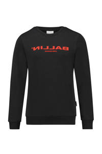 Ballin Amsterdam Junior by Purewhite sweater met logo zwart, Zwart