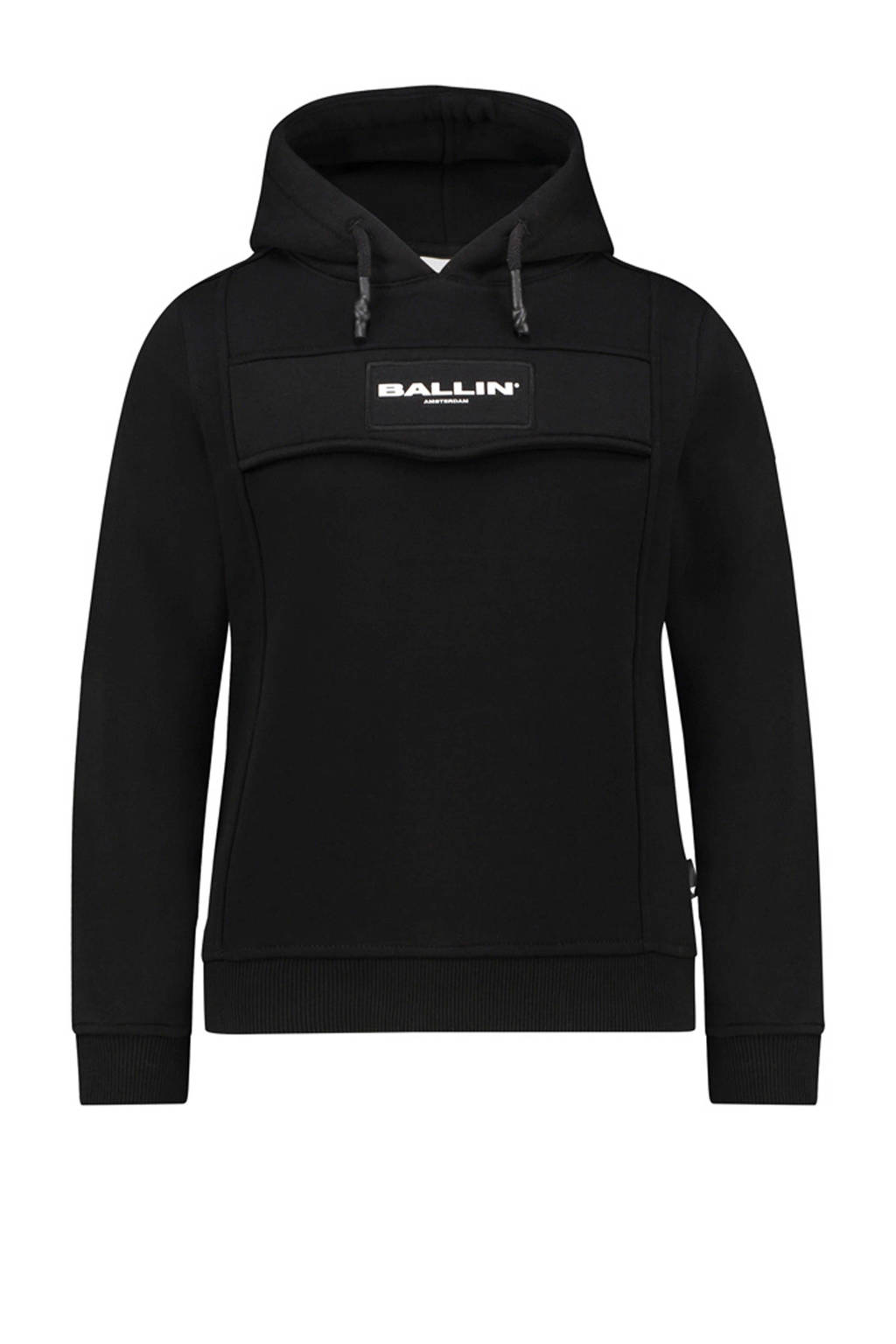 Ballin Amsterdam Junior by Purewhite hoodie met logo zwart, Zwart