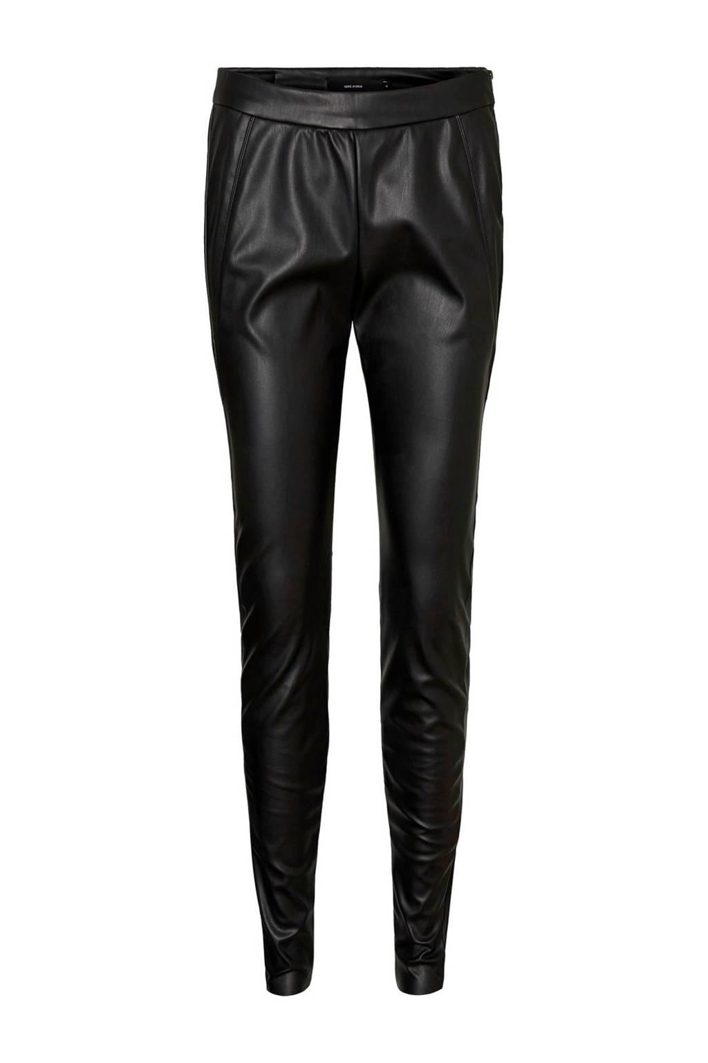VERO MODA high waist loose fit broek zwart, Zwart