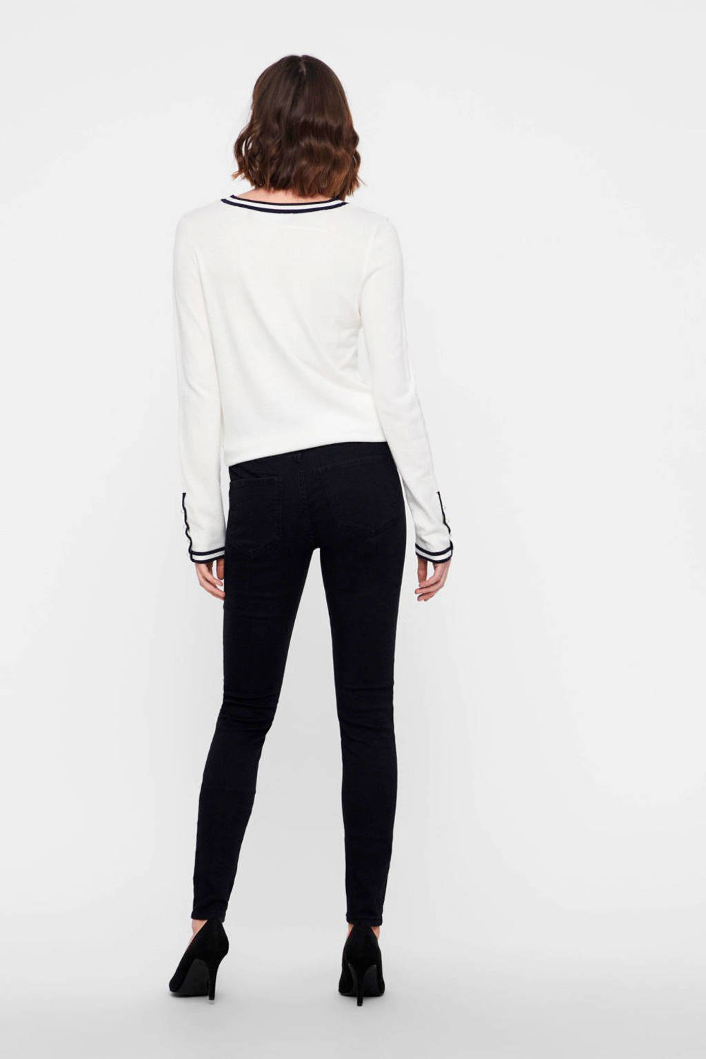 VERO MODA skinny jeans zwart, Zwart