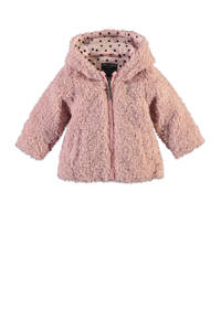 Babyface fluffy winterjas roze, Roze