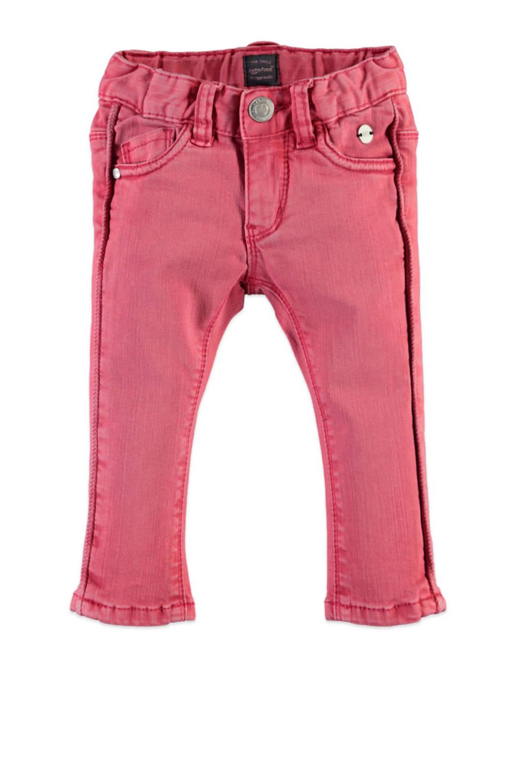 Babyface slim fit broek roze, Roze