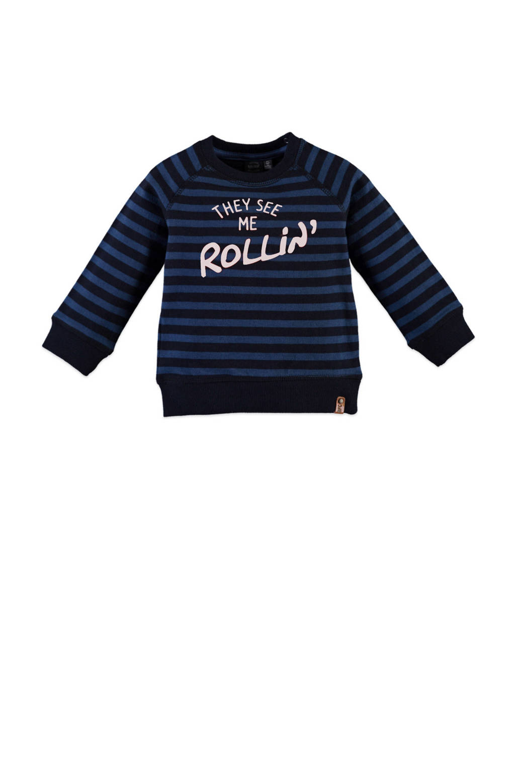 Babyface gestreepte sweater donkerblauw, Donkerblauw