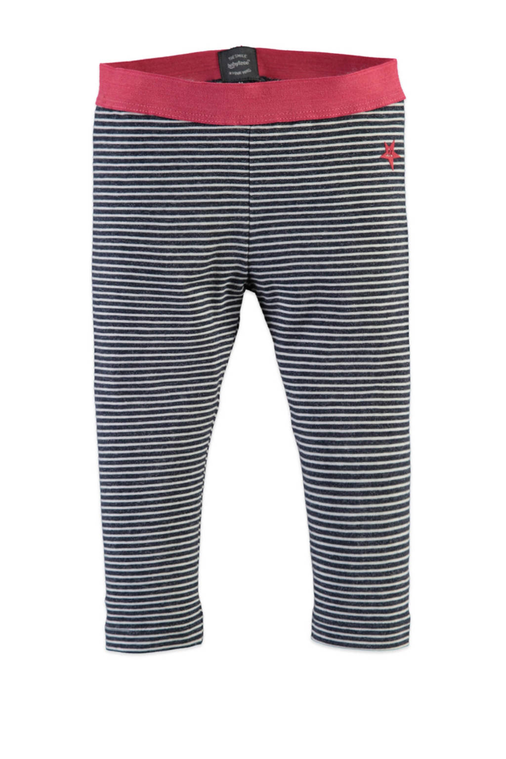 Babyface gestreepte regular fit legging donkerblauw/wit, Donkerblauw/wit
