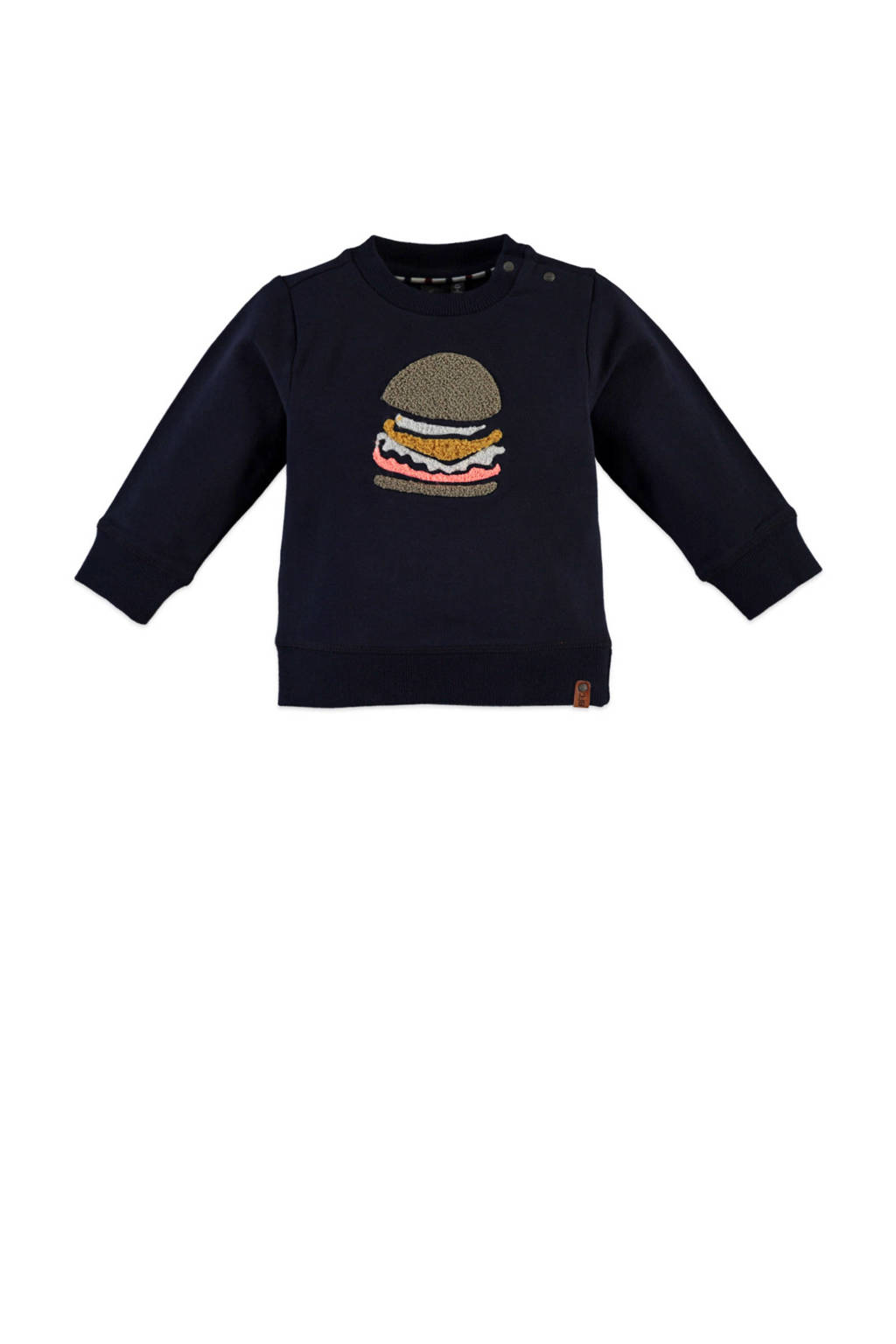 Babyface sweater met printopdruk donkerblauw, Donkerblauw