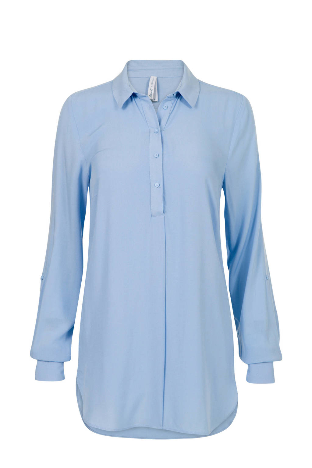 Miss Etam Lang blouse lichtblauw, Lichtblauw