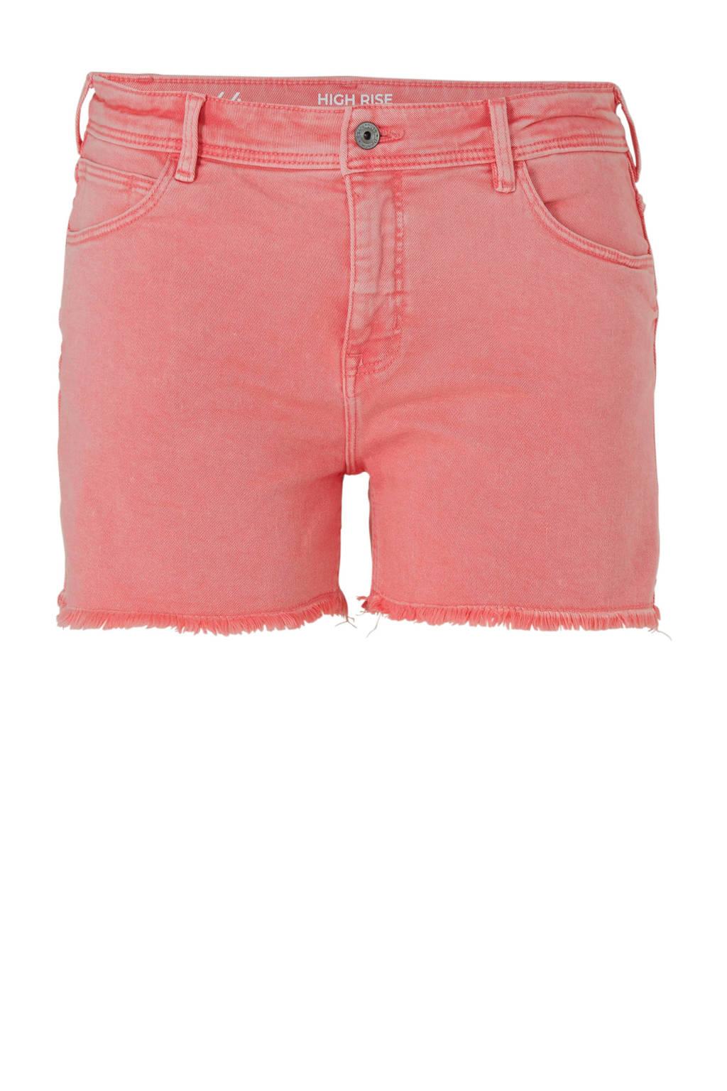C&A XL Clockhouse high waist slim fit jeans short, Roze