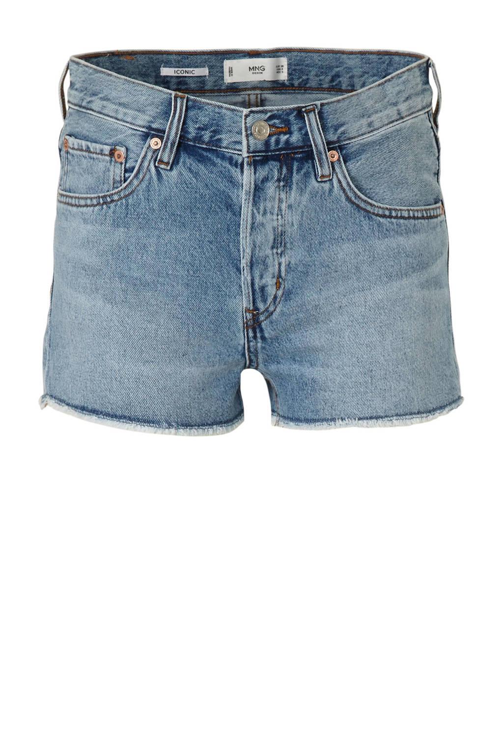 Mango slim fit jeans short, Stonewashed