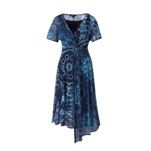 Desigual jurk met all over print blauw