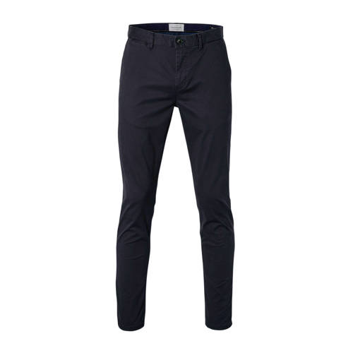 Scotch & Soda Mott slim fit chino donkerblauw