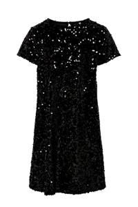 KIDS ONLY jurk met pailletten zwart, Zwart