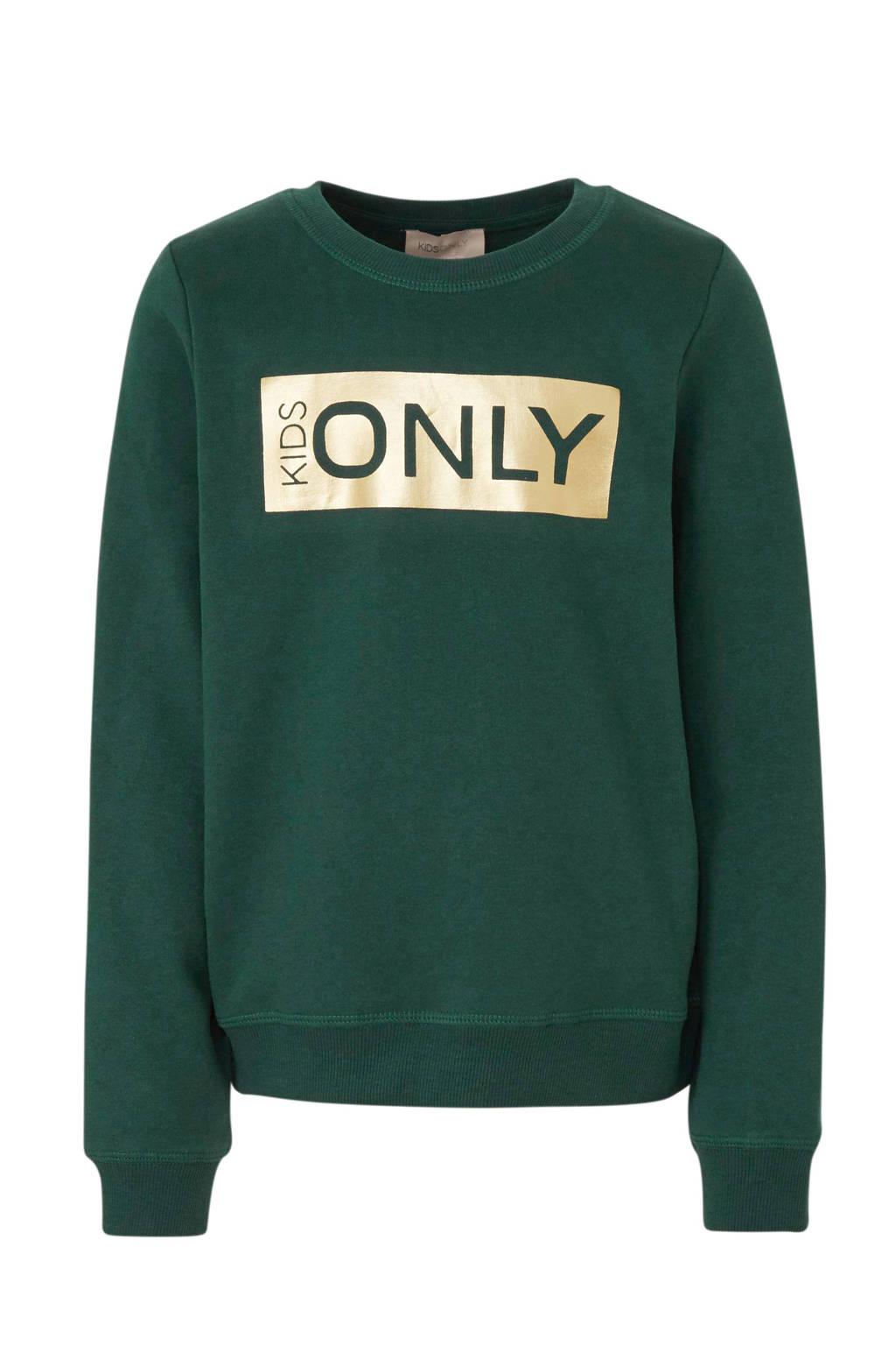 KIDS ONLY sweater Beat met logo groen, Groen