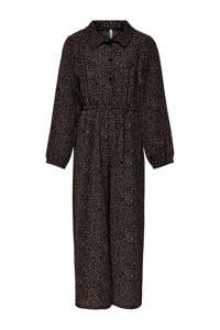KIDS ONLY jumpsuit Coco met dierenprint bruin/ zwart, Bruin/ zwart
