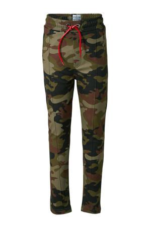 broek Sain met camouflageprint groen/bruin camouflage