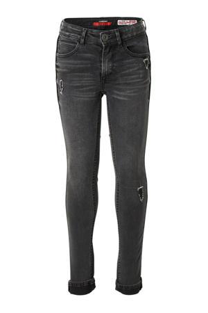 super skinny jeans Britte met slijtage dark grey used