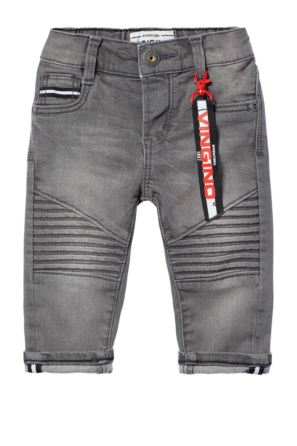 Vingino skinny jeans Brad, Donkergrijs