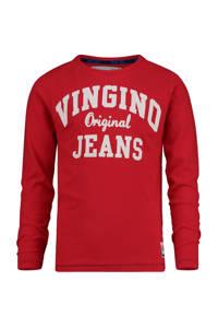 Vingino longsleeve Jeriah met logo rood, Rood