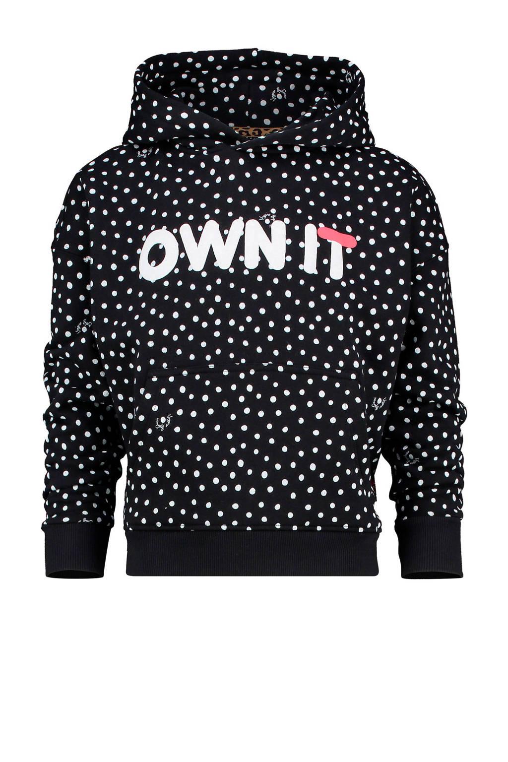 Vingino hoodie ByDanie met stippen zwart, Zwart