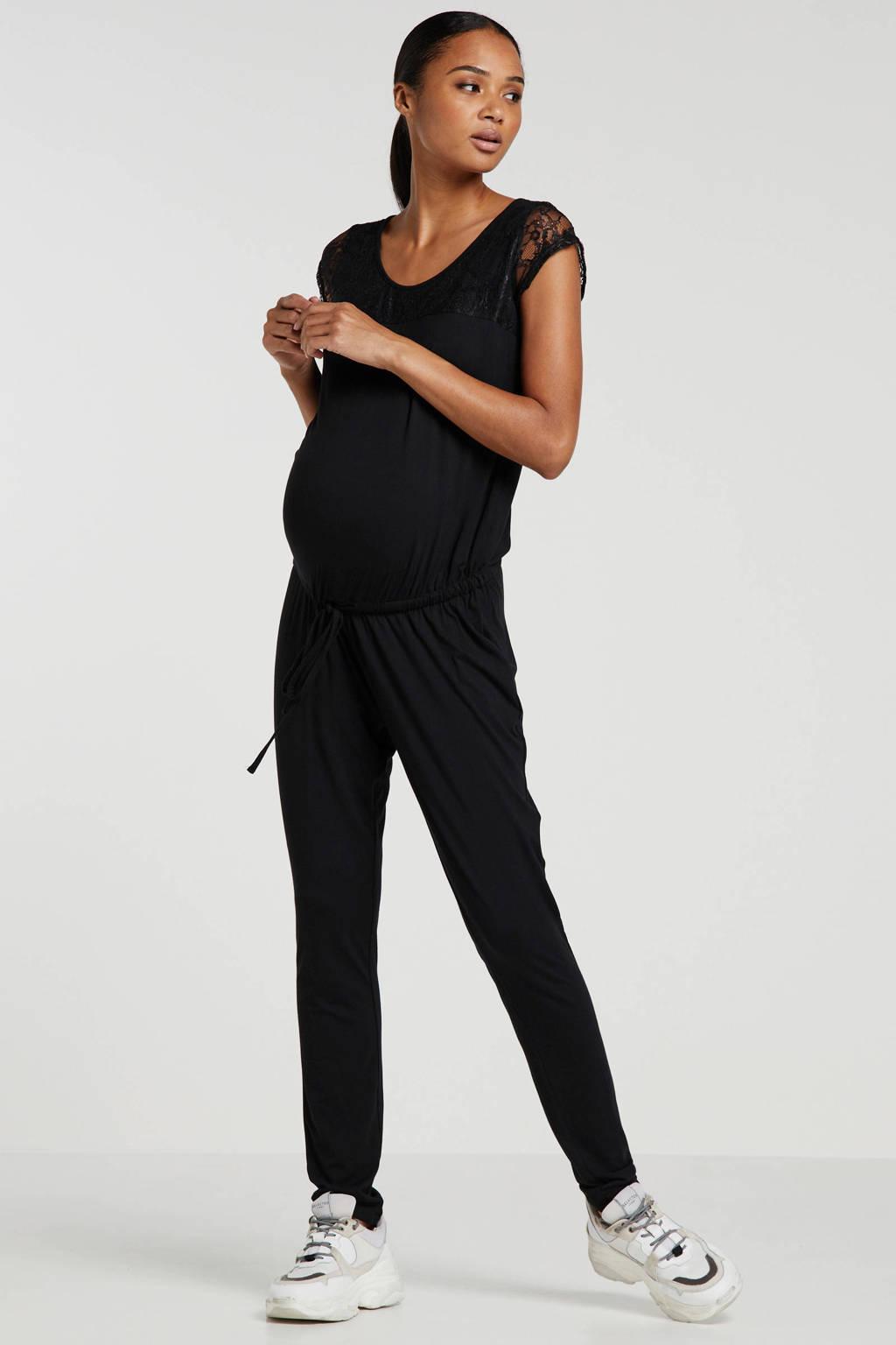 MAMALICIOUS zwangerschapsjumpsuit New Bella zwart, Zwart