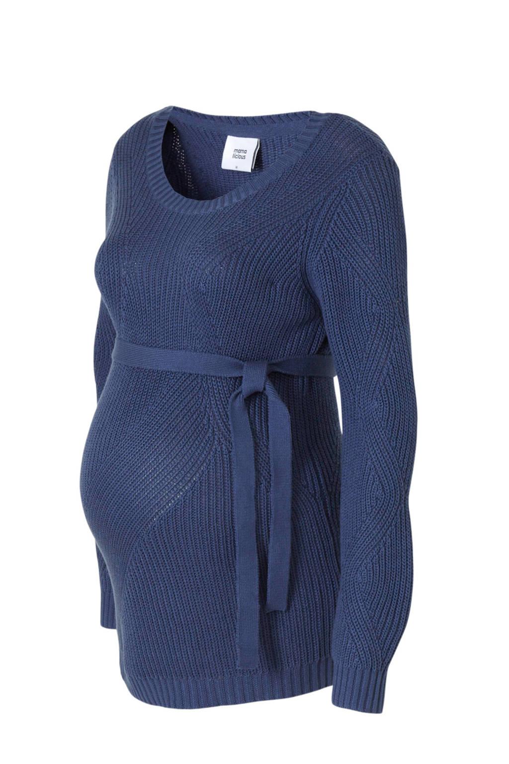 MAMALICIOUS gebreide zwangerschapstrui met textuur donkerblauw, Donkerblauw