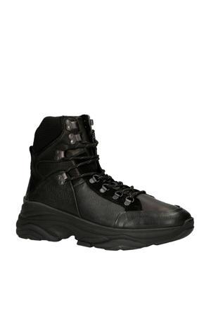 leren hiking boots zwart