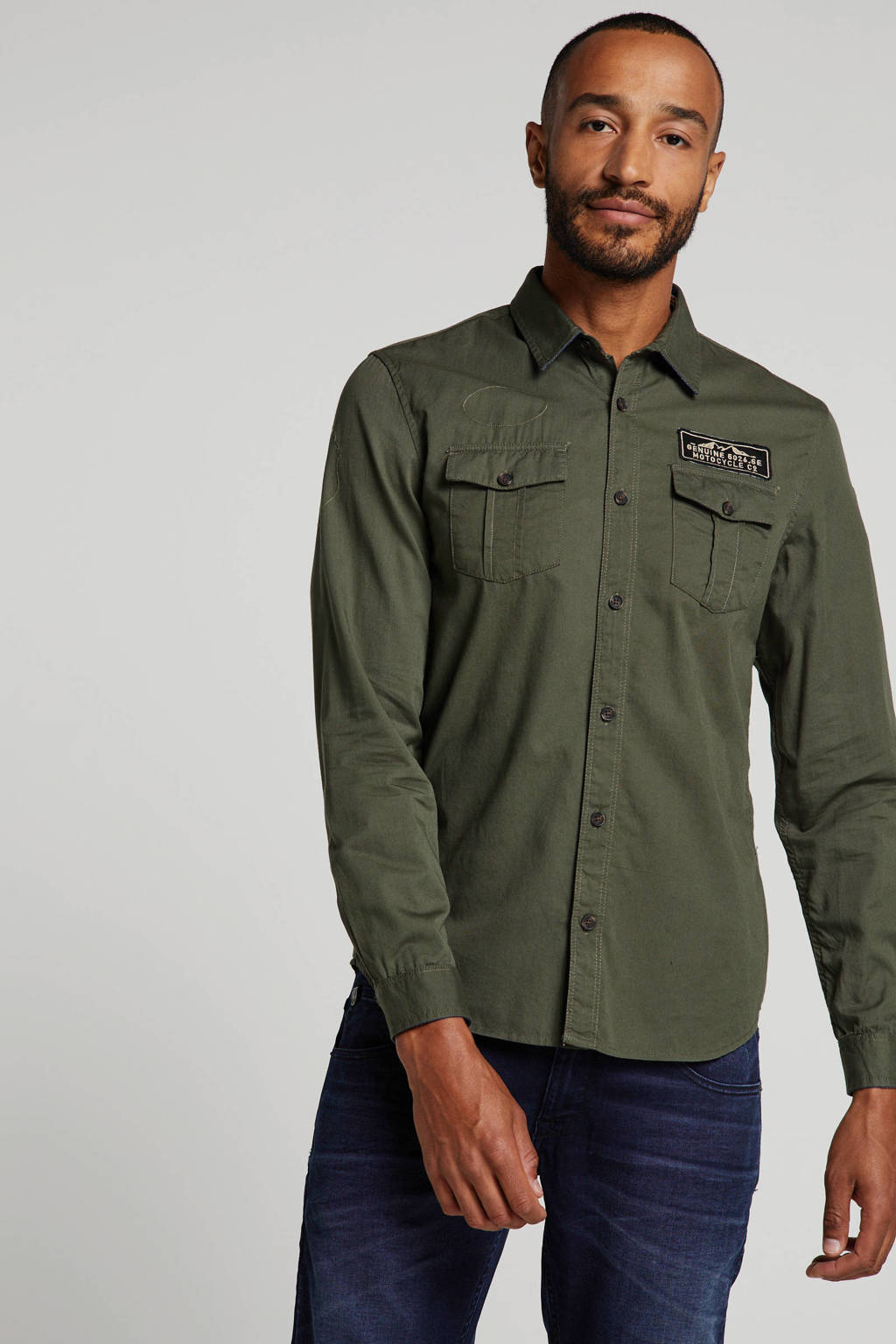 Petrol Industries overhemd groen, Groen