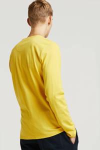 Petrol Industries T-shirt met tekst geel, Geel