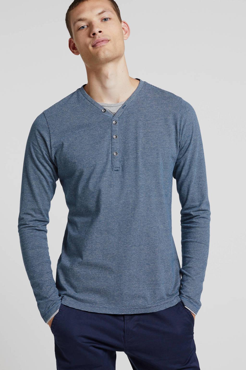 Petrol Industries T-shirt met v-hals, Blauw