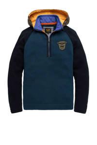 PME Legend trui met logo donkerblauw/geel, Donkerblauw/geel