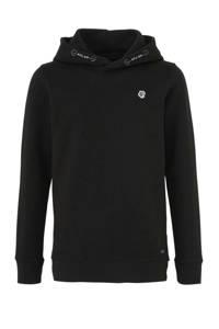 Petrol Industries hoodie met printopdruk zwart, Zwart
