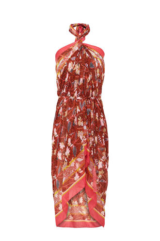 pareo met all over print rood