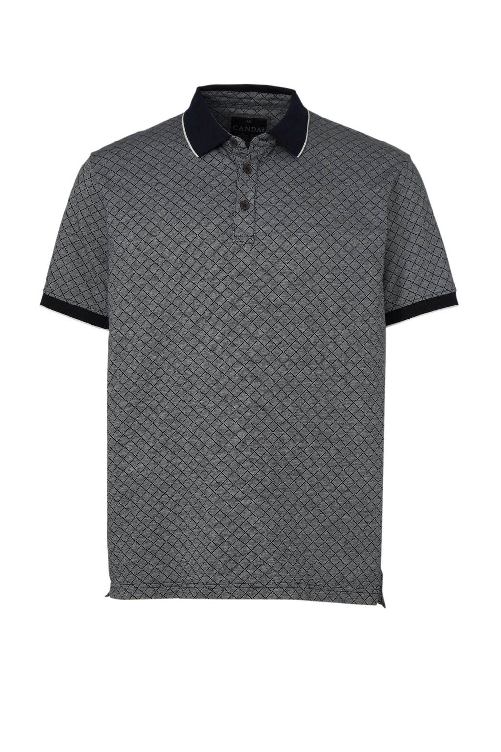 C&A XL Canda polo met all over print, Blauw