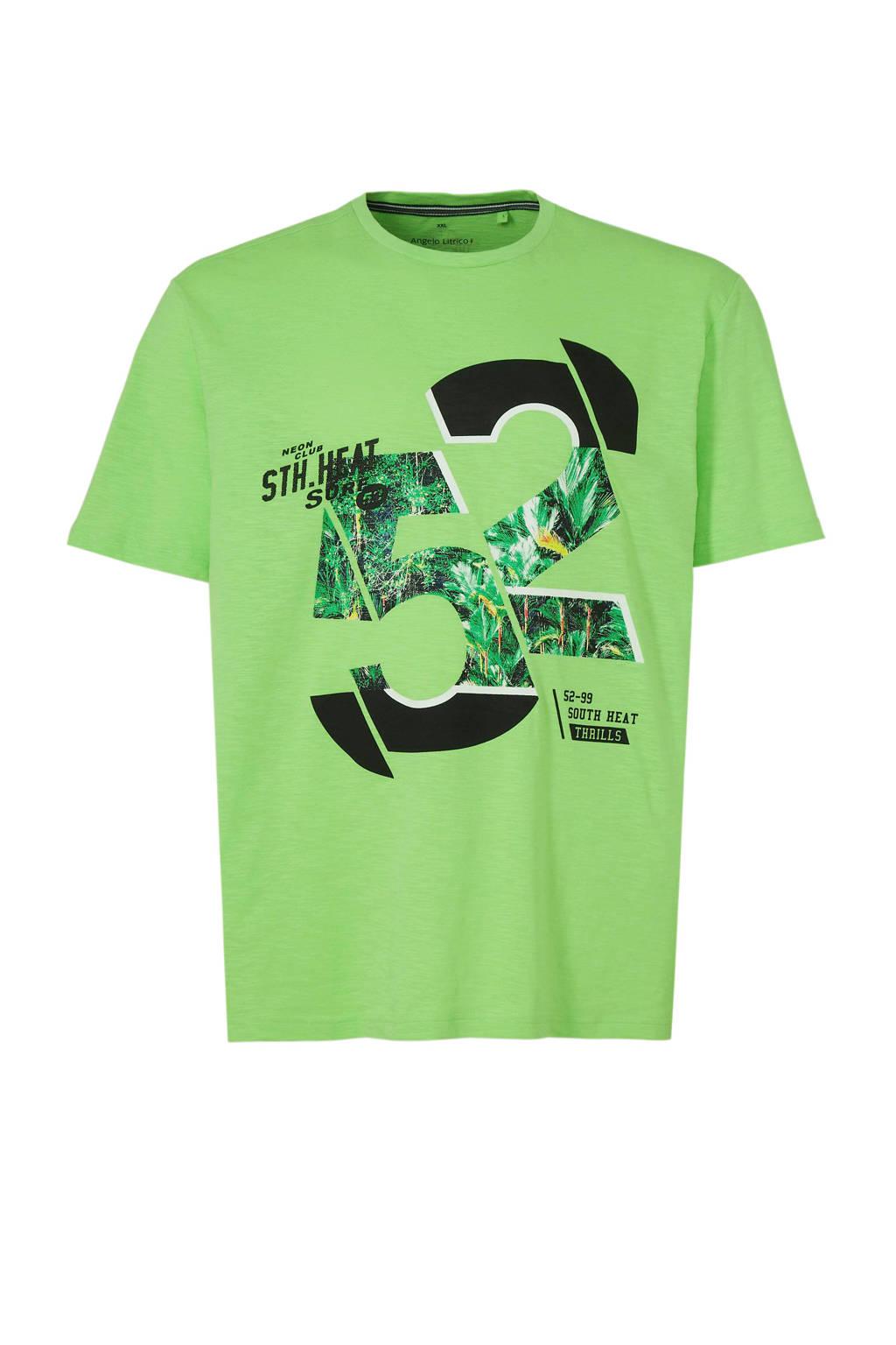 C&A XL Angelo Litrico T-shirt met printopdruk, Lichtgroen