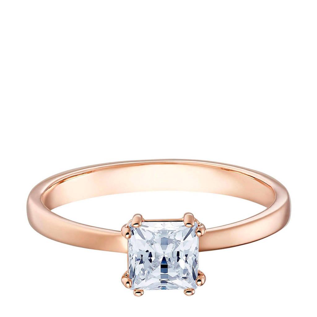 Swarovski ring rosékleurig, rosegoudkleurig