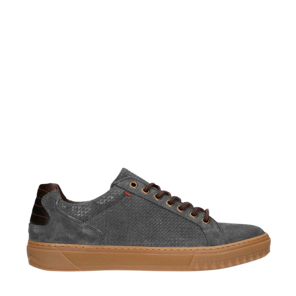 Manfield   suède sneakers grijsblauw, Grijsblauw